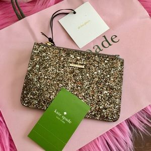 Kate Spade Glitter Key Chain Card Coin Holder